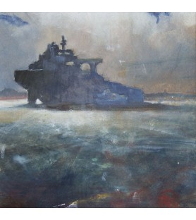 Tanker in Falmouth Bay by...
