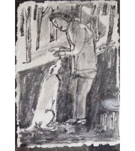 Man and Dog by Michael Rees
